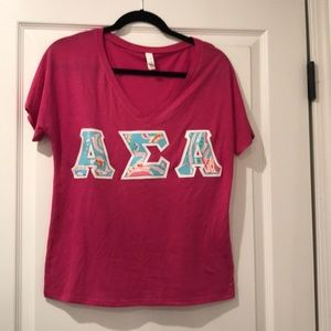 Alpha Sigma Alpha Lilly Pulitzer letters